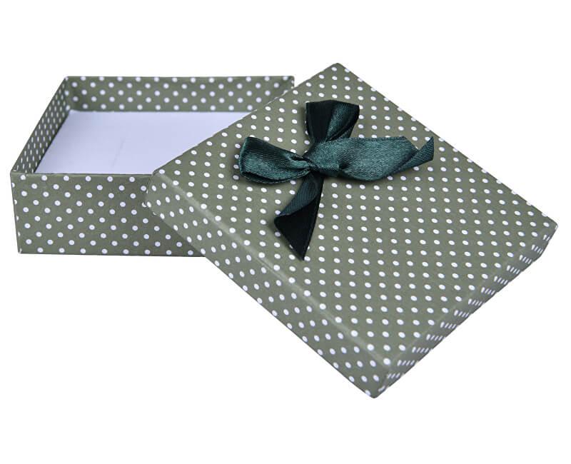 JK Box Zelená puntíkatá krabička na soupravu šperků KK-5/A19