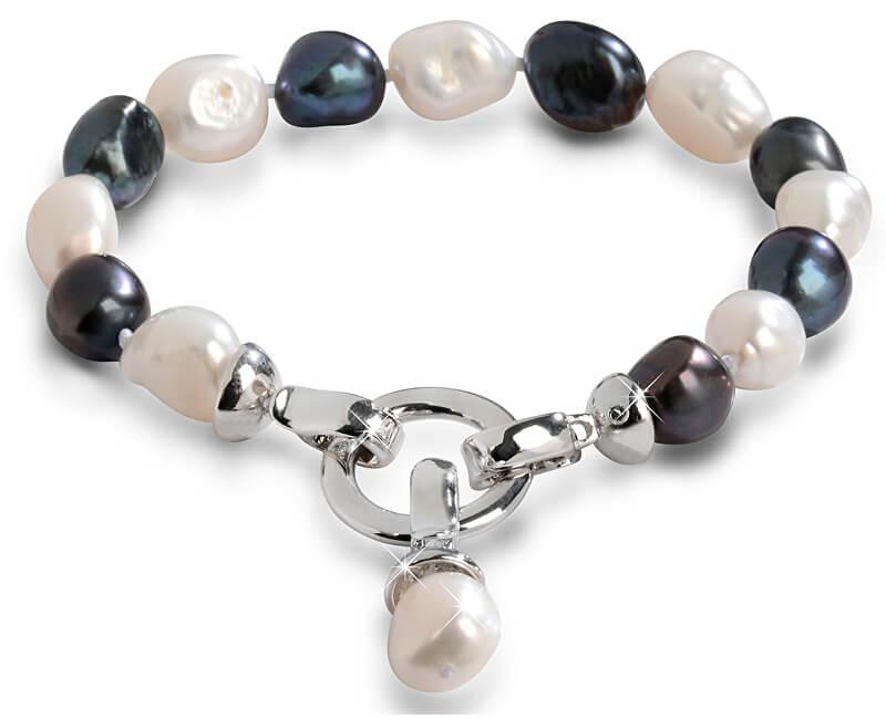 JwL Luxury Pearls Náramek z pravých perel ve dvou odstínech JL0317