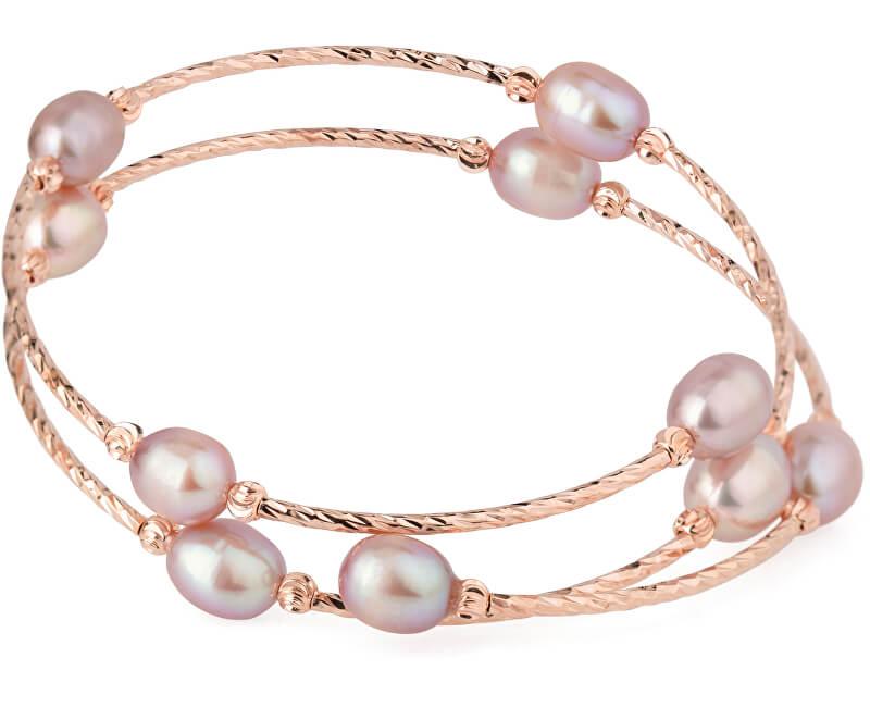 JwL Luxury Pearls Bronzový náramek s pravými perlami JL0494