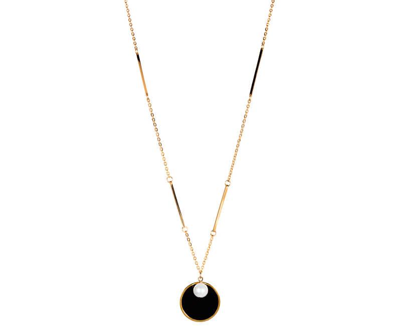 JwL Luxury Pearls Dlouhý zlacený náhrdelník s pravou perlou JL0476CH