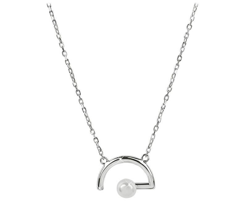 JwL Luxury Pearls Elegantní náhrdelník s pravou bílou perlou JL0502