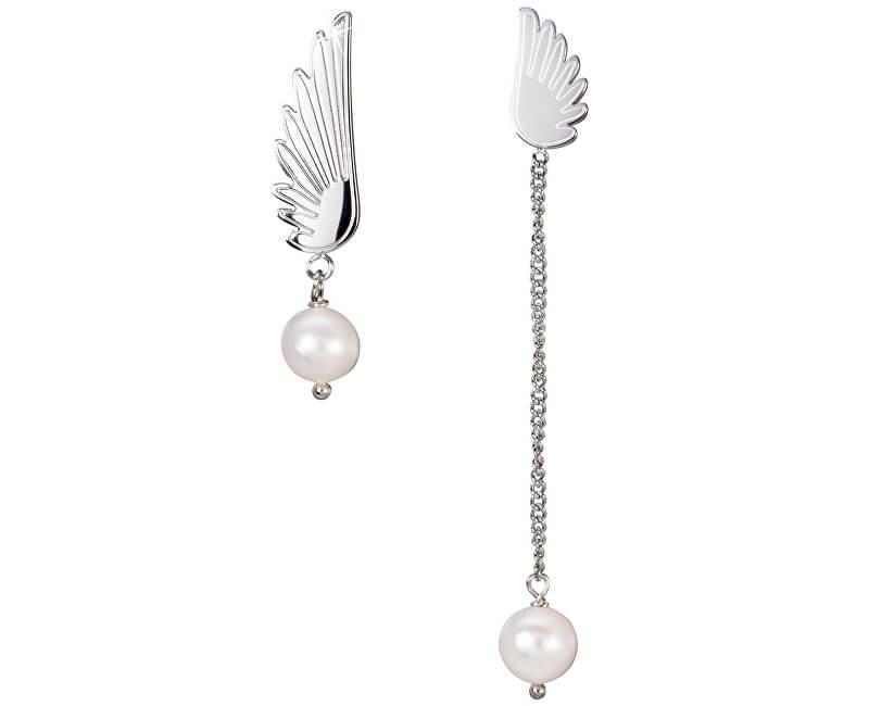 JwL Luxury Pearls Asymetrické andělské náušnice JL0485CH