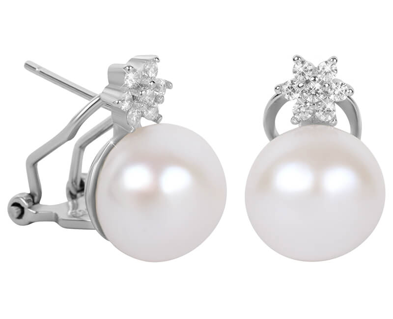 7ba4027e7 JwL Luxury Pearls Nádherné náušnice s pravou perlou a kryštály JL0429