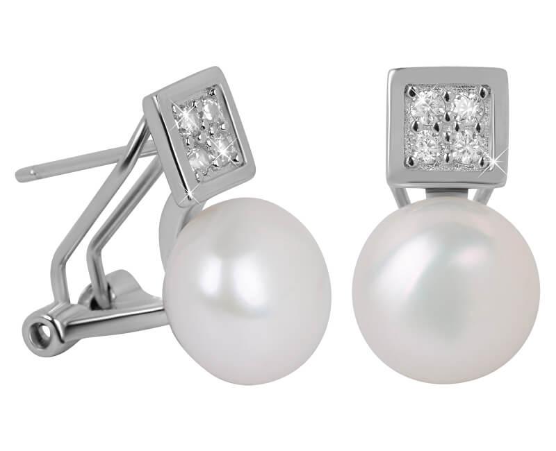 a146dde0c JwL Luxury Pearls Nádherné náušnice s pravou perlou a kryštály JL0430