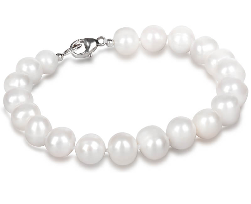 JwL Luxury Pearls Náramek z pravých bílých perel JL0362