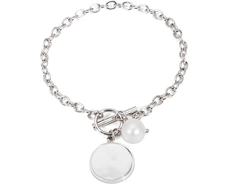 JwL Luxury Pearls Ocelový náramek s pravou perlou JL0480CH