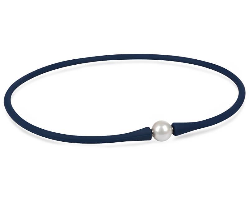 JwL Luxury Pearls Sportovní perlový náhrdelník modrý JL0343