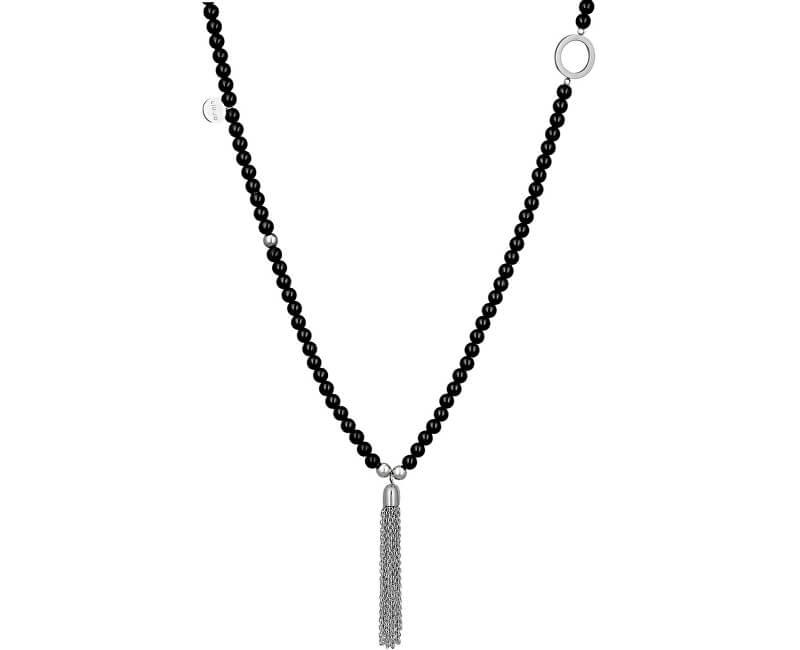 Liu.Jo Dlouhý korálkový náhrdelník se střapcem LJ1202