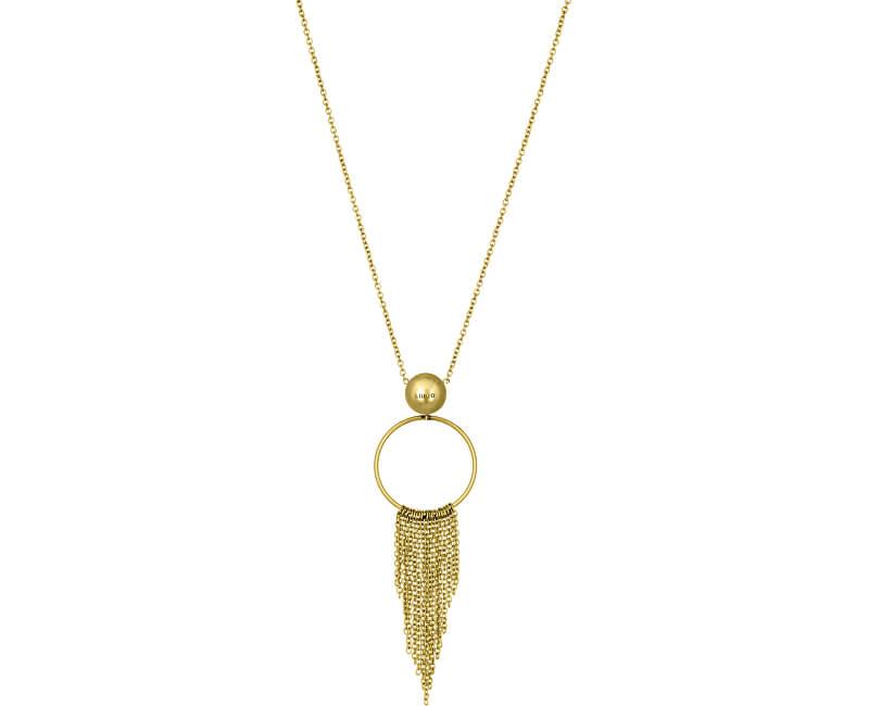 Liu.Jo Pozlacený ocelový náhrdelník LJ1226