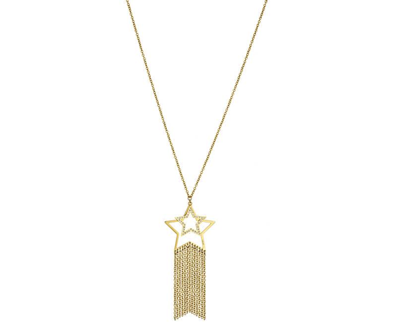 Liu.Jo Pozlacený ocelový náhrdelník LJ1209