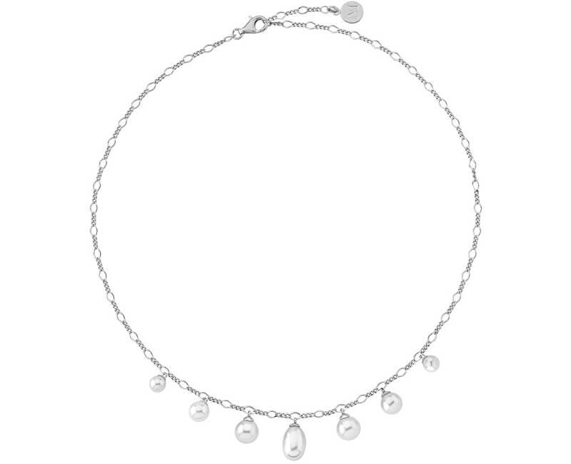 Majorica Luxusní stříbrný náhrdelník s pravými perlami 14865.01.2.000.010.1