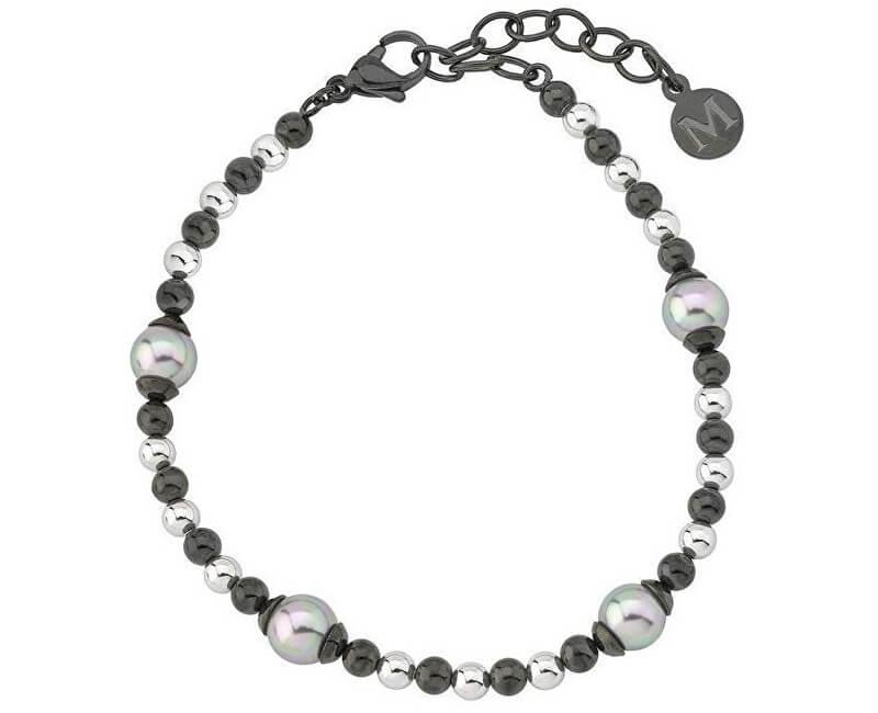 Majorica Ocelový náramek s pravými perlami 15138.03.0.000.010.1