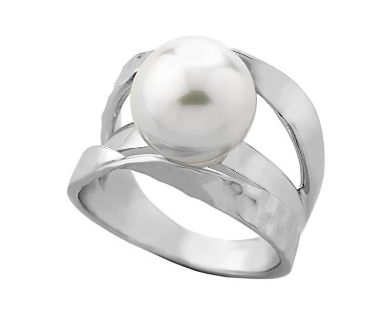 Majorica Originální stříbrný prsten s pravou perlou 11647.01.2.913.010.1