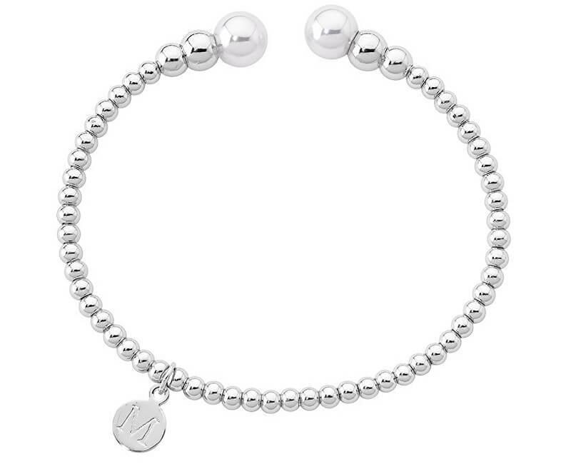 Majorica Pevný ocelový náramek s pravými perlami 14626.01.0.000.010.1