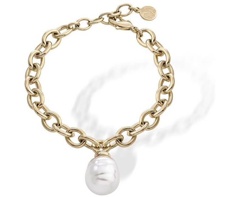 Majorica Pozlacený ocelový náramek s barokní perlou 15291.01.4.000.010.1