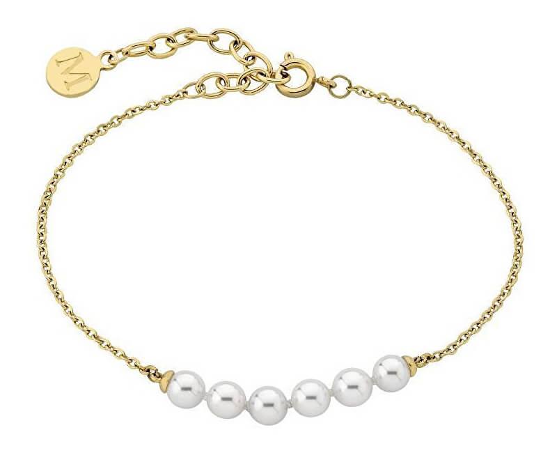 Majorica Pozlacený ocelový náramek s pravými perlami 15219.01.0.000.010.1