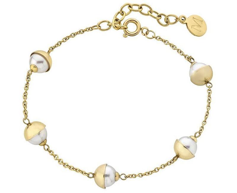 Majorica Pozlacený ocelový náramek s pravými perlami 15221.01.0.000.010.1