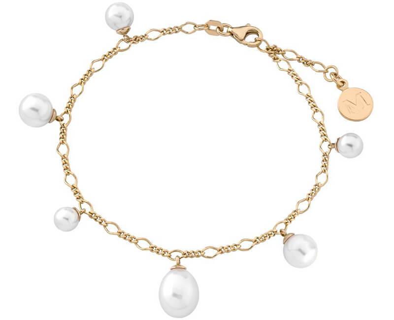 Majorica Pozlacený stříbrný náramek s pravými perlami 14864.01.1.000.010.1