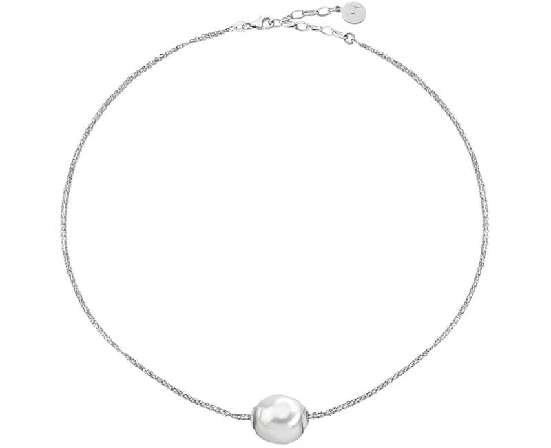 Majorica Stříbrný náhrdelník s pravou barokní perlou 12969.01.2.000.010.1