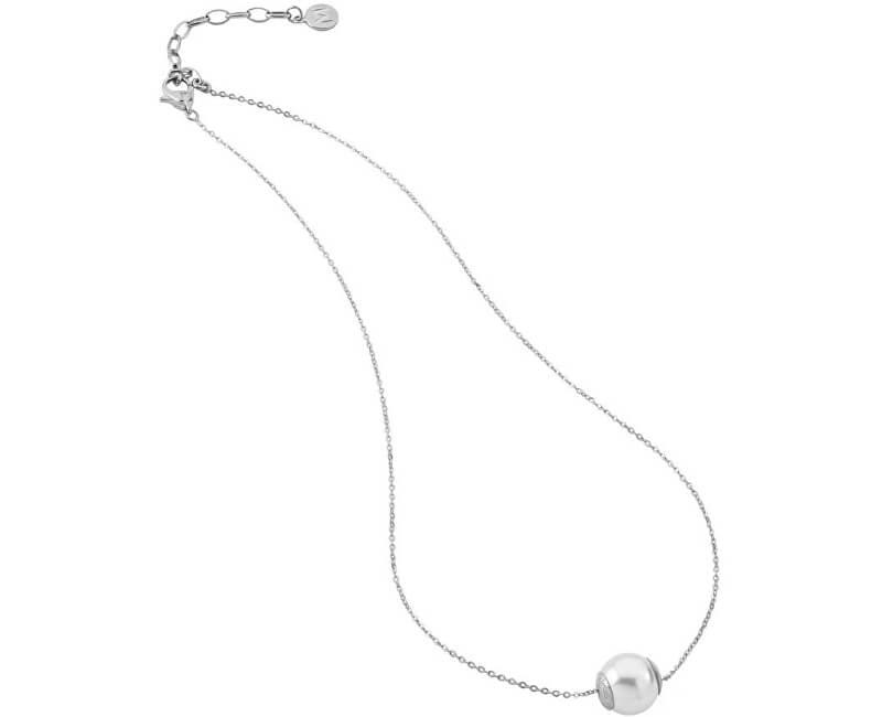 Majorica Stříbrný náhrdelník s pravou perlou 12970.01.2.000.010.1 (řetízek, přívěsek)