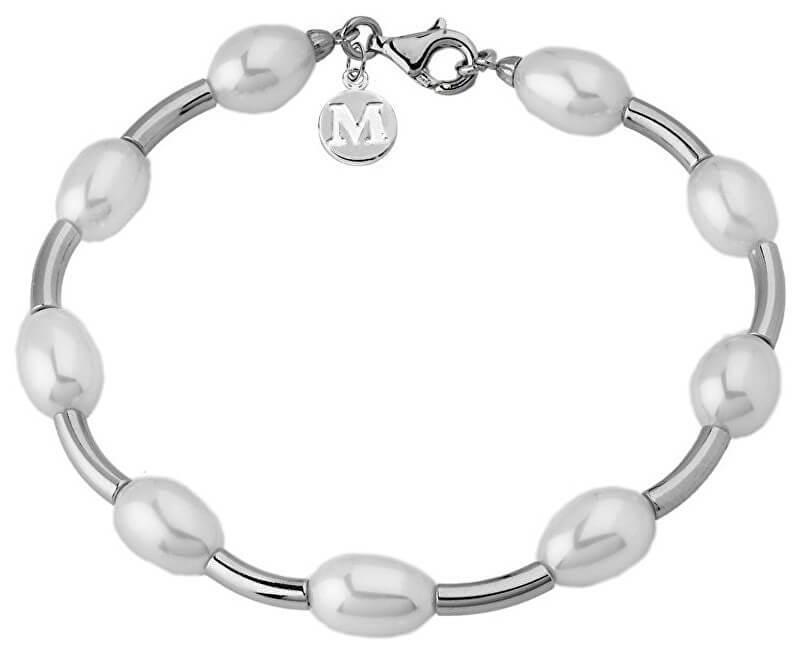 Majorica Brățară din argint cu perle autentice 09298.01.2.000.708.1