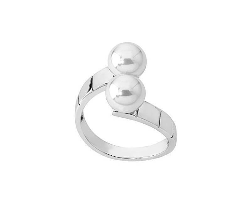 Majorica Stříbrný otevřený prsten s pravými perlami 14386.01.2.992.010.1