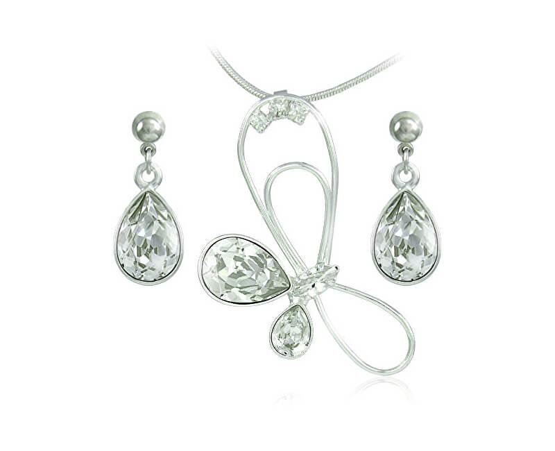 MHM Souprava šperků Debia Crystal 34132 (náušnice, řetízek, přívěsek)
