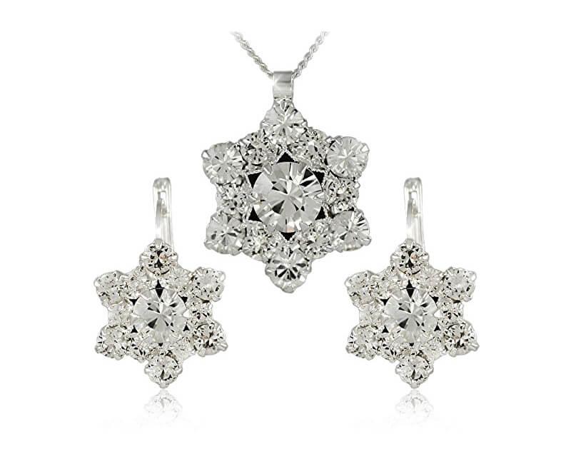 MHM Souprava šperků Riana Crystal 34185 (náušnice, řetízek, přívěsek)