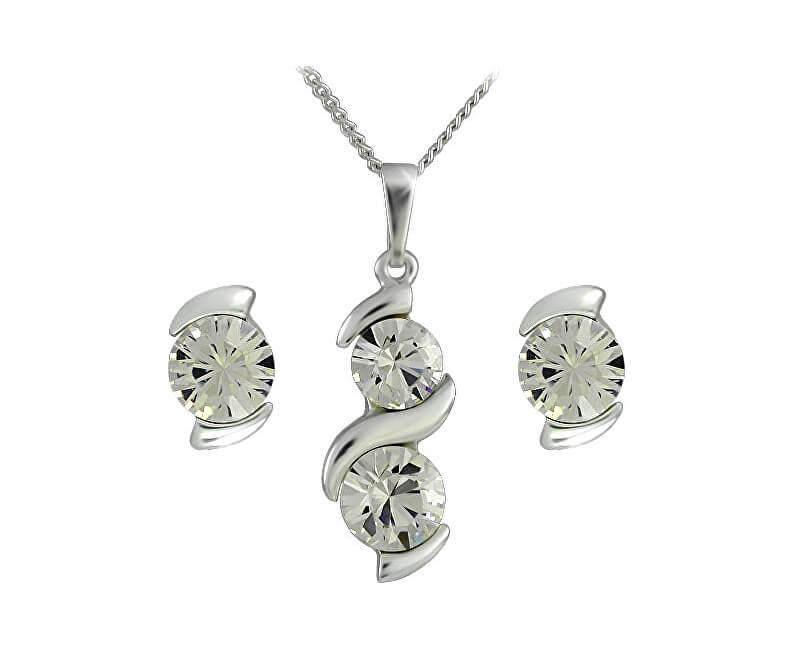 MHM Souprava šperků Sisi Crystal 34146 (náušnice, řetízek, přívěsek)