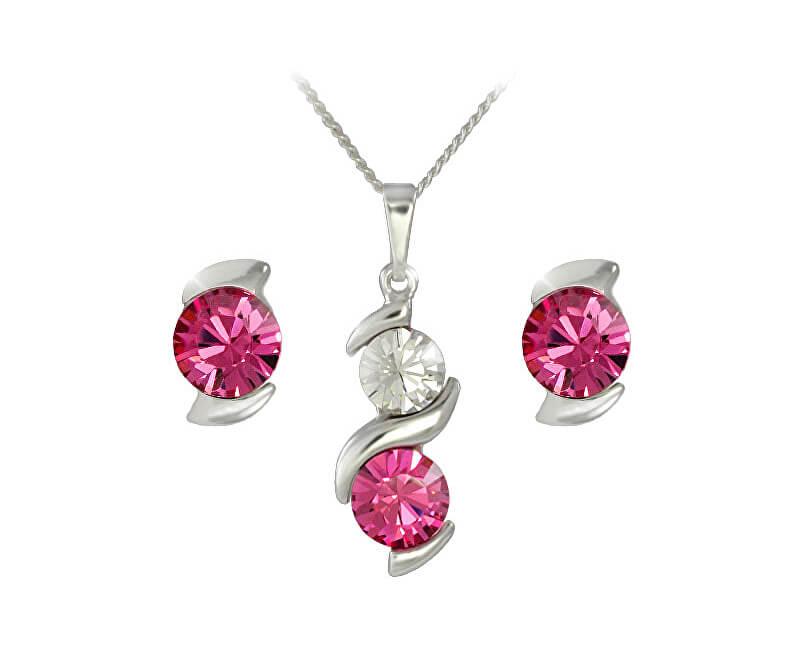 MHM Souprava šperků Sisi Rose 34168 (náušnice, řetízek, přívěsek)