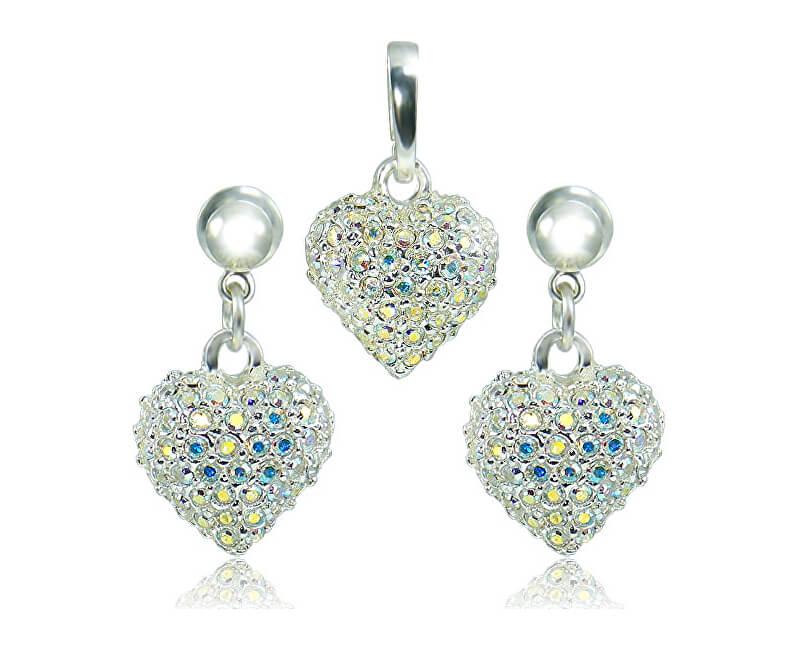 MHM Souprava šperků Srdce M4 Crystal AB 3489