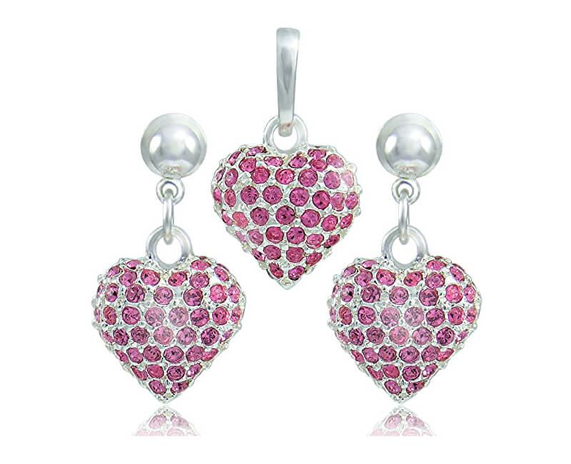 MHM Souprava šperků Srdce M4 Rose 3491