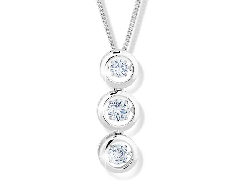 e111efa5e Modesi Dámsky strieborný náhrdelník M43064 (retiazka, prívesok ...