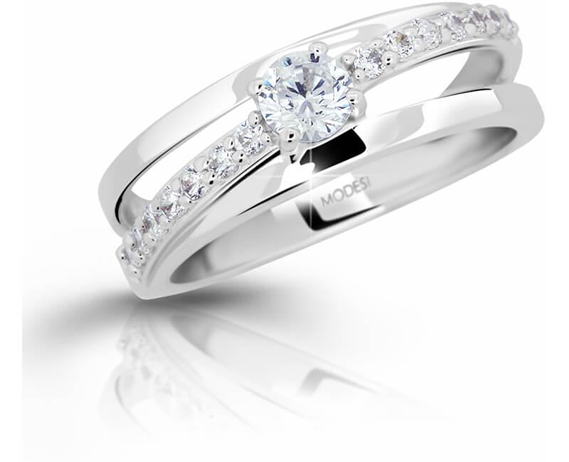 Modesi Stříbrný prsten se zirkony M11105