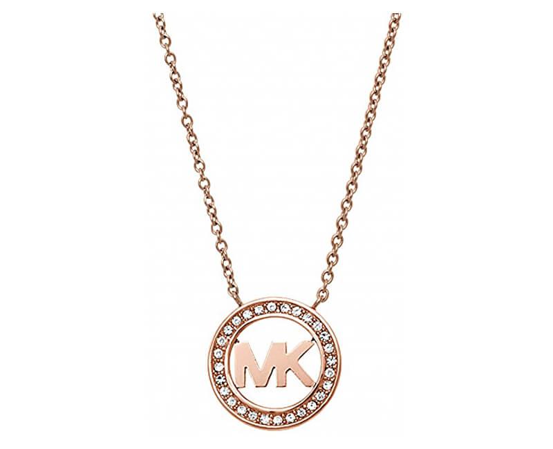 Michael Kors Jemný bronzový náhrdelník MKJ4734791