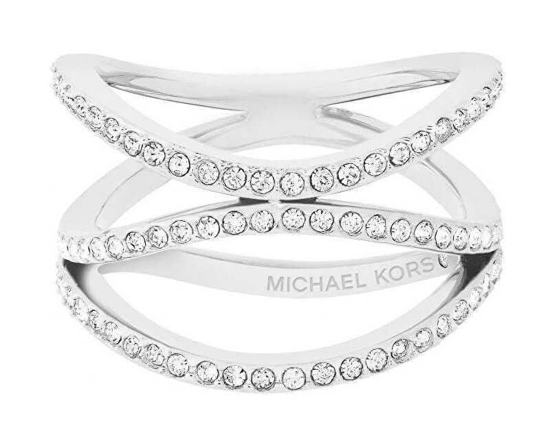 95d8bd37d Michael Kors Oceľový oceľový prsteň s kryštálmi MKJ6639040 Doprava ...