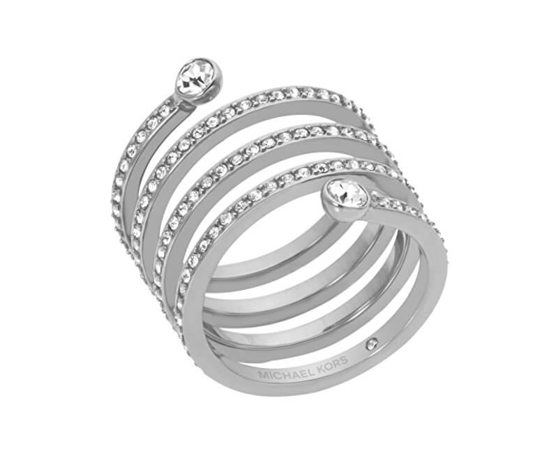 7ddea85f5 Michael Kors Oceľový prsteň s kryštálmi MKJ4723040 Doprava ZDARMA ...