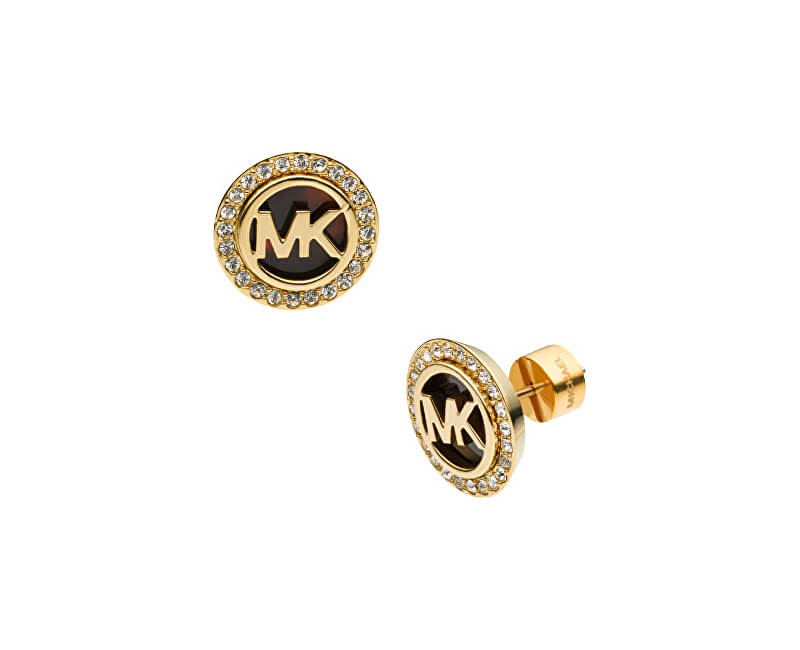 f62870555dbd Michael Kors Pozlátené luxusné náušnice s logom a kryštály MKJ2943710