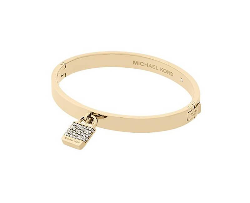 8052cba85 Michael Kors Zlatý náramok s kryštálmi a príveskom MKJ6355710 ...