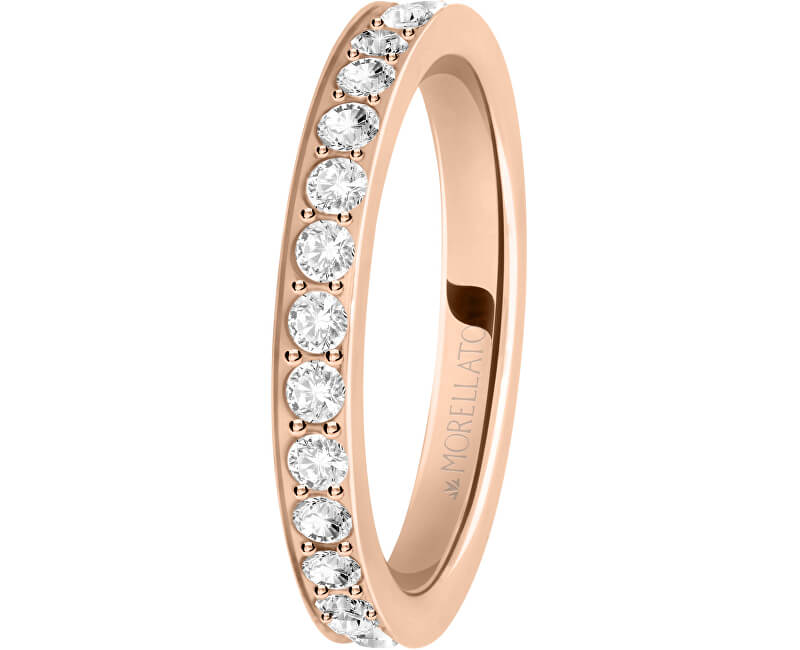 Morellato Bronzový prsten s krystaly Love Rings SNA40