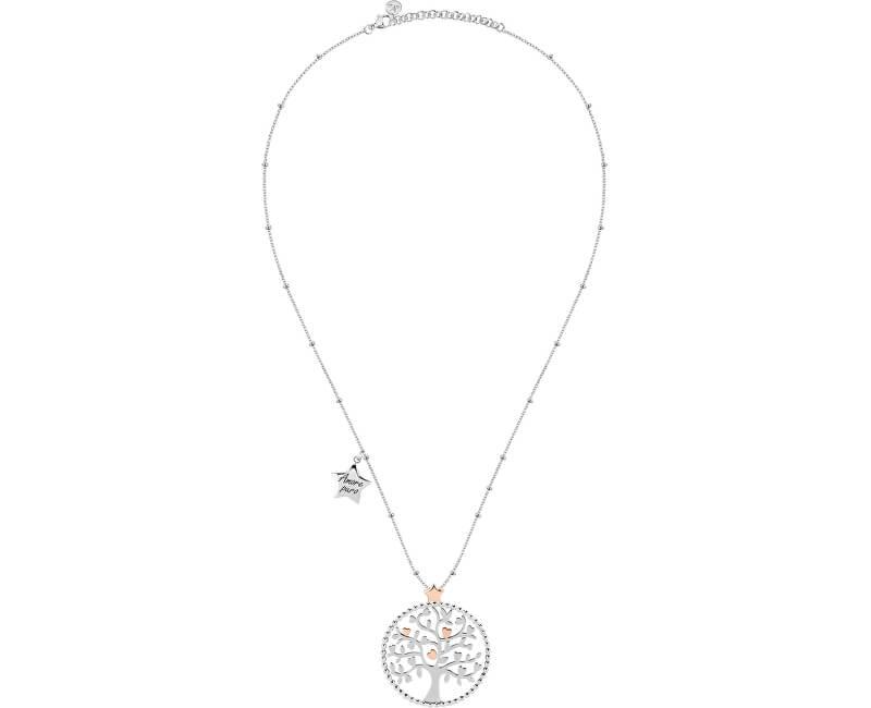 Morellato Ocelový náhrdelník Green Tree of Life Talismani SAQE11