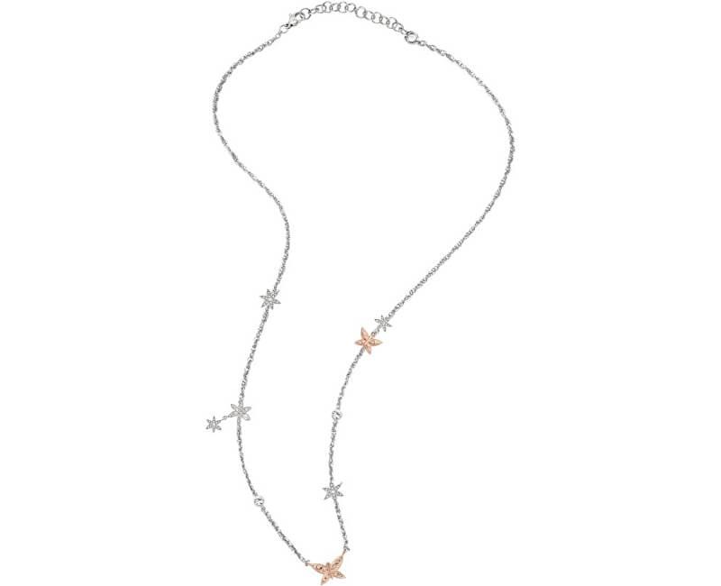 Morellato Ocelový bicolor náhrdelník s motýlky Natura SAHL01