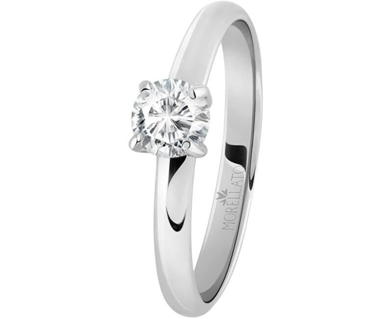 Morellato Ocelový prsten s krystalem Love Rings SNA42