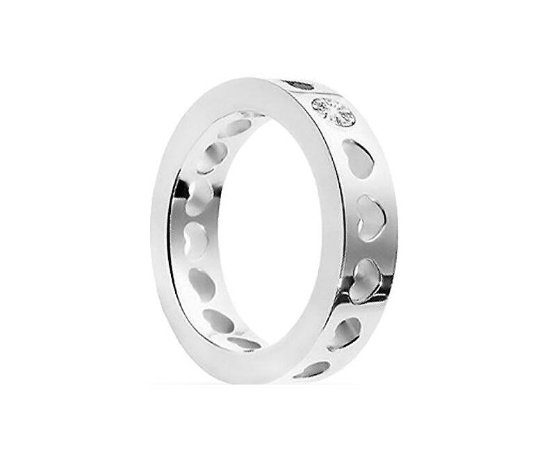 c8fec9d01 Morellato Oceľový prsteň so srdiečkami S0R07 Doprava ZDARMA ...