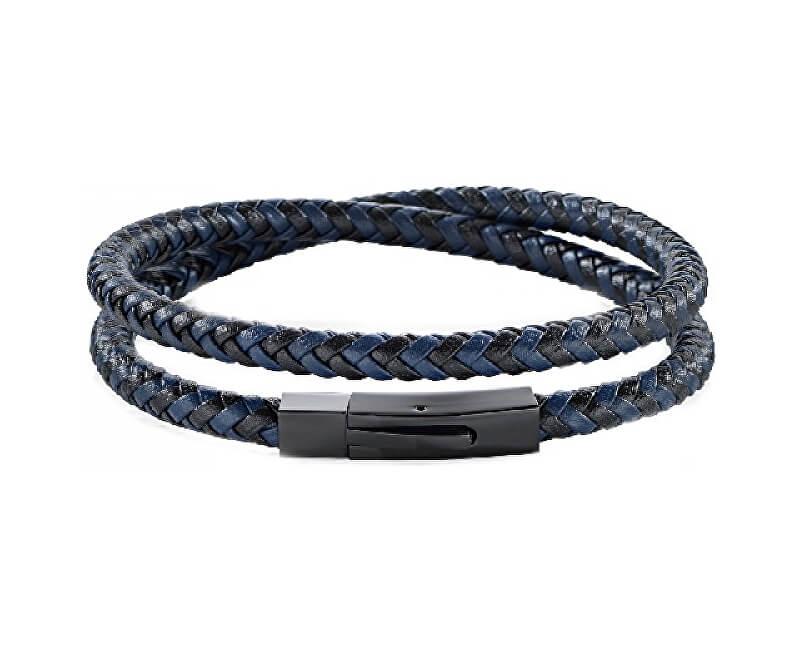 b76f5bc64 Morellato Pánsky modro-čierny kožený náramok Moody SQH16 | Vivantis ...