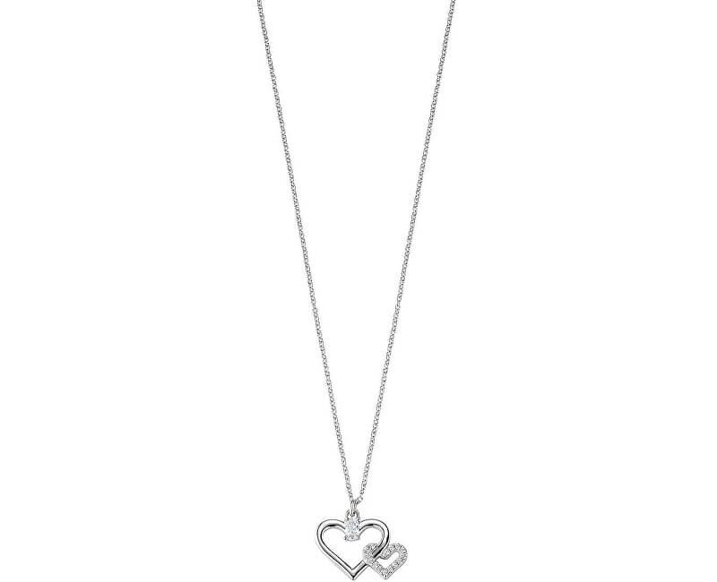 Morellato Stříbrný náhrdelník Spojené srdce Cuori SAIV22 (řetízek, přívěsek)