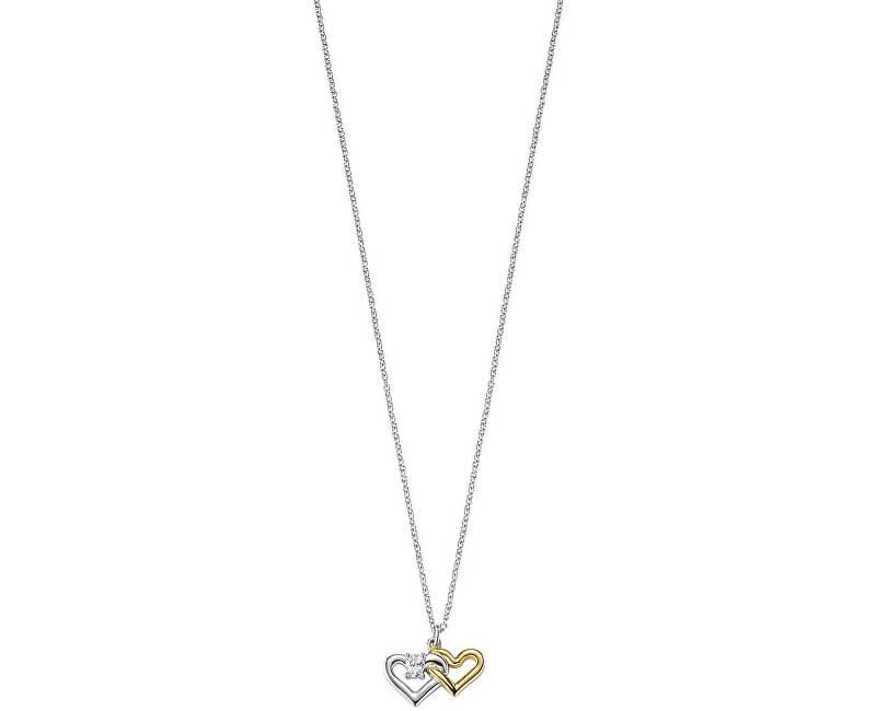 Morellato Stříbrný náhrdelník Spojené srdce Cuori SAIV23 (řetízek, přívěsek)