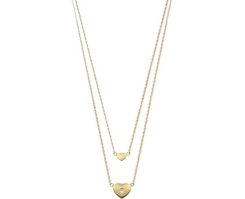 Morellato Ocelový náhrdelník se srdíčky SAHM01