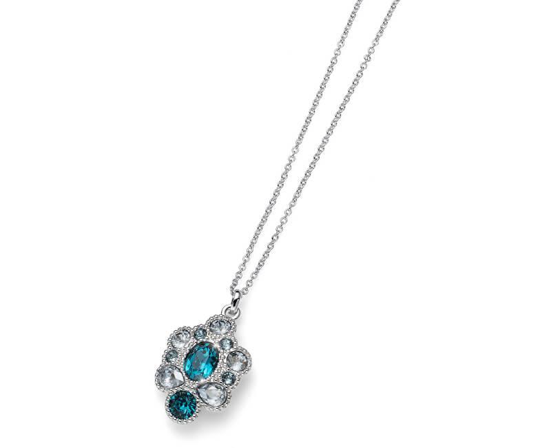 Oliver Weber Elegantní náhrdelník s tyrkysovými krystaly Keen 11814R