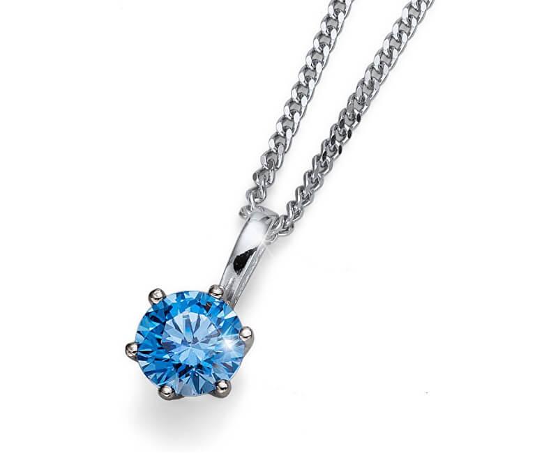 Oliver Weber Colier cu cristal albastru Morning Brilliance Medium BLU 61125